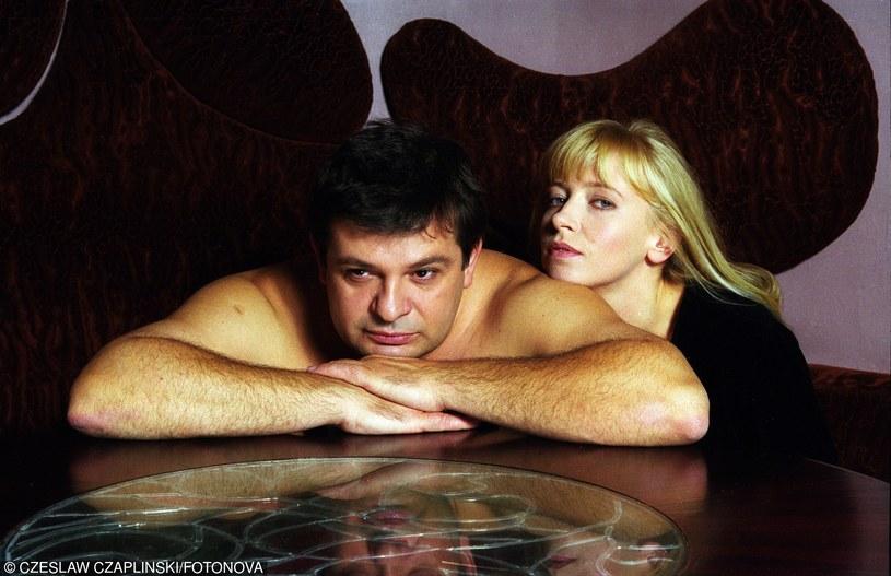 Dorota Segda w sesji zdjęciowej z Krzysztofem Globiszem z 1997 roku /Czesław Czapliński /Fotonova
