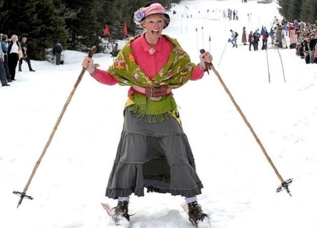 Doskonałe warunki narciarskie panują na Podhalu /AFP