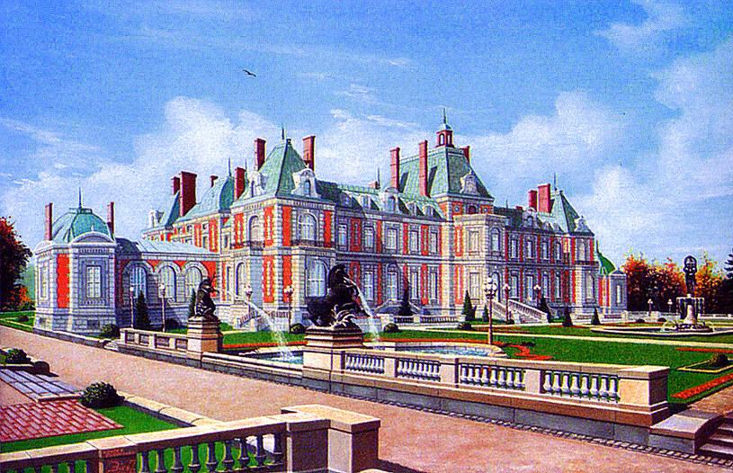 Dowód miłości Guida do Blanche - Nowy Pałac (Neue Schloss) zwany Małym Wersalem. Źródło A. Kuzio-Podrucki, M. Ogiński, Rezydencje śląskiej szlachty. Bytom, Piekary Śląskie, powiat lubliniecki.jpg /
