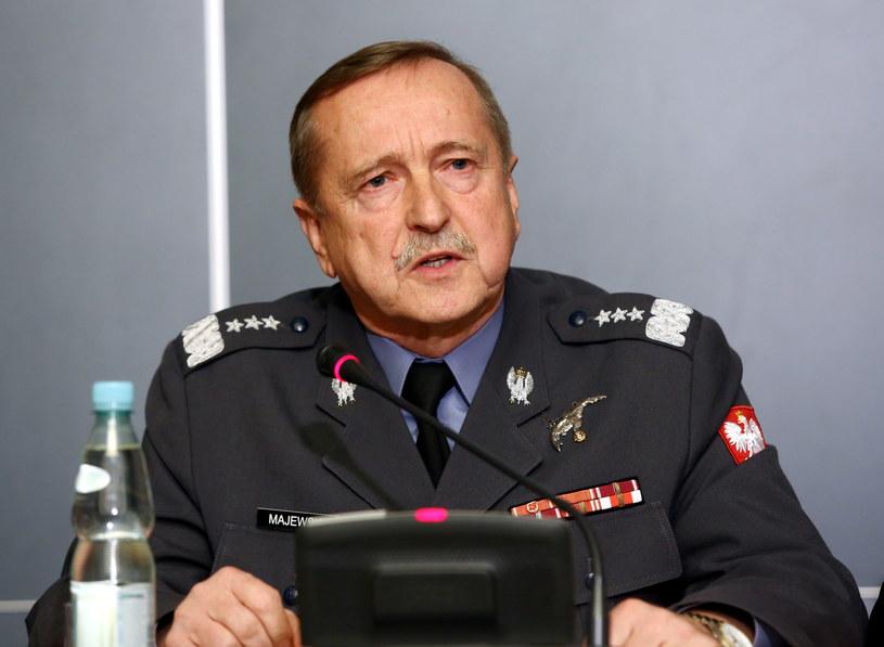 Dowódca Sił Powietrznych generał broni pilot Lech Majewski /Tomasz Gzell /PAP