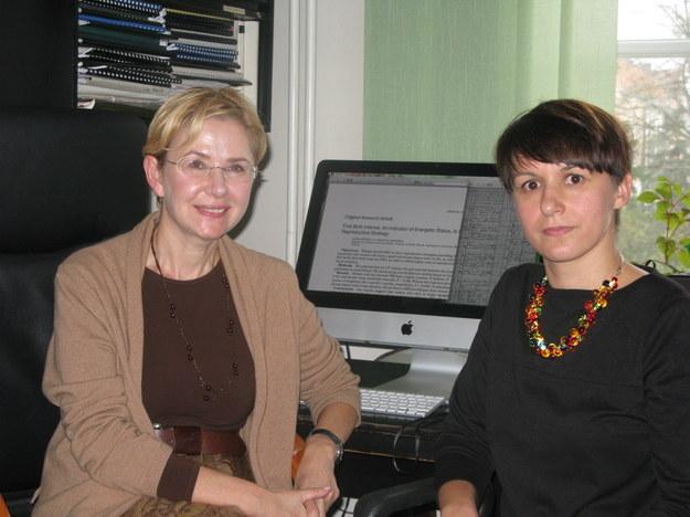 Dr hab. Grażyna Jasieńska (po lewej) i dr Ilona Nenko /Grzegorz Jasiński /RMF FM