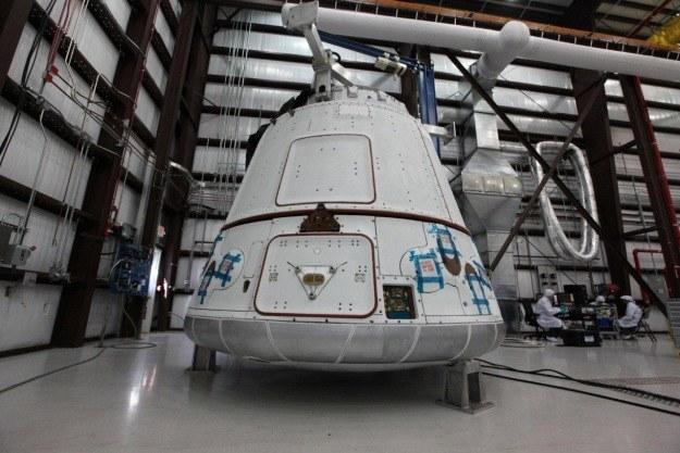 Dragon w pełnej okazałości.  Fot. Space X /materiały prasowe