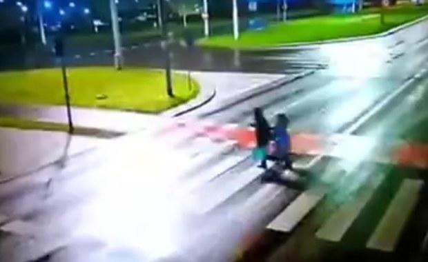 Drastyczny wypadek w Toruniu. Policja szuka źródła nagrania