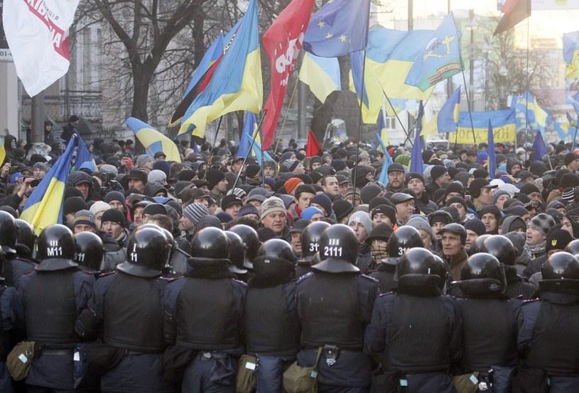 Dremonstracje na Ukrainie trwają /PAP/EPA