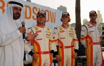 Drugi z prawej Romain Grosjean /AFP