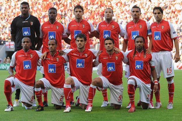 Drużyna SC Braga przed meczem z Sevillą /Getty Images/Flash Press Media