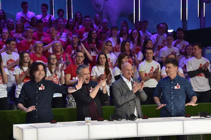 Drużyna Tomasza Kammela: Piotr Rubik, Radosław Pazura i Cezary Harasimowicz /Ireneusz Sobieszczuk /TVP