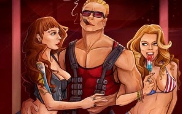 Duke Nukem 3D - fragment okładki ze ścieżki dźwiękowej /materiały prasowe
