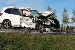 Duńkowiczki: Zderzenie busa z samochodem osobowym
