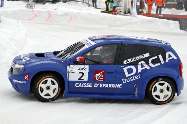Duster na lodzie, podczas Trophée Andros /