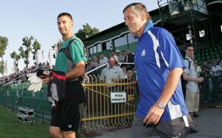 Duszan Radolsky (z prawej) szanuje Cracovię /Agencja Przegląd Sportowy