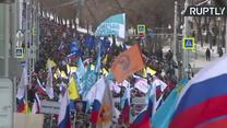Dwa lata od śmierci Borysa Niemcowa tysiące ludzi przeszło w marszu ulicami Moskwy