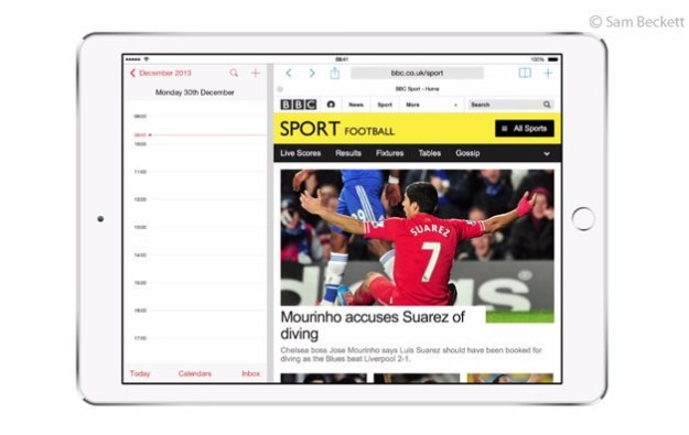 Dwie aplikacje na jednym ekranie - wizualizacja.  Fot. Sam Beckett /materiały prasowe