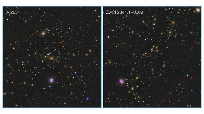 Dwie gromady galaktyk tworzące supergromadę Saraswati /materiały prasowe