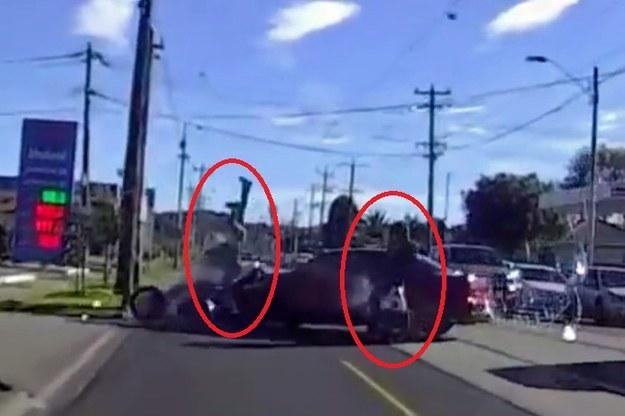 Dwóch motocyklistów nie miało szans na uniknięcie zderzenia /