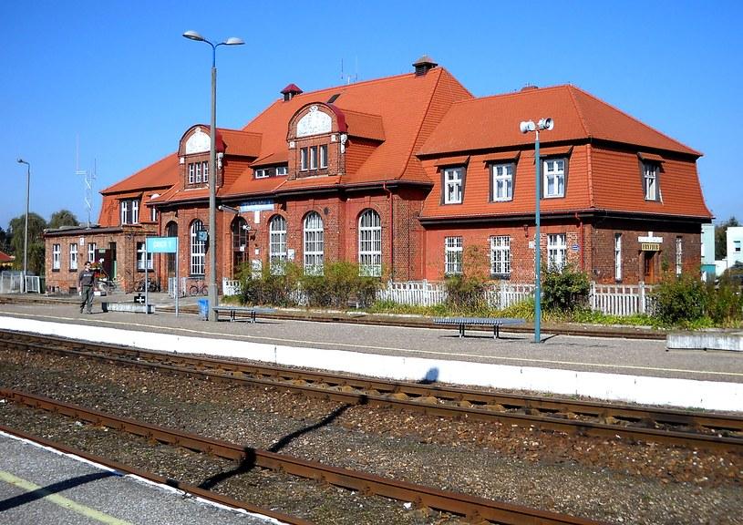 Dworzec w Tuchel (współczesne zdjęcie Tucholi; źródło: Odkrywca) /
