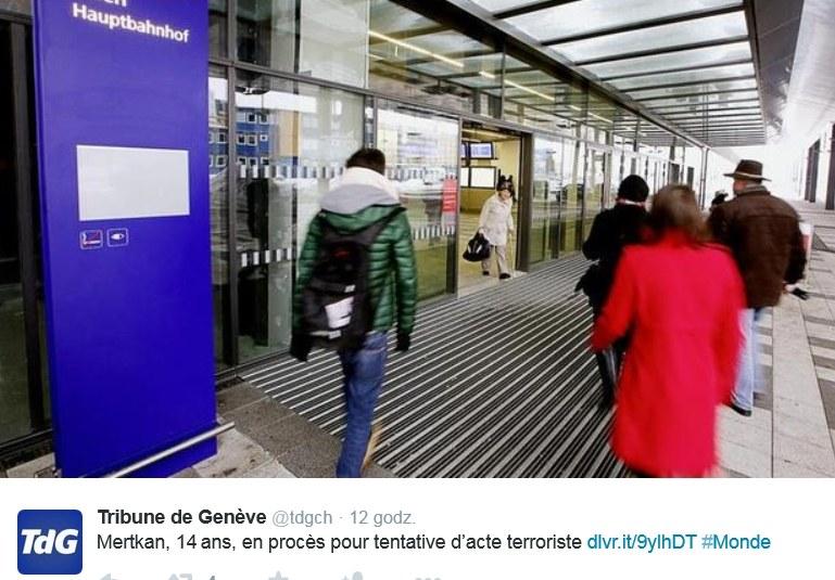 Dworzec w Wiedniu. To tu nastolatek miał przeprowadzić zamach /Twitter