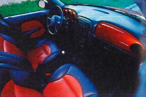 Dwubarwna skórzana tapicerka, efektownie dobrana pod kolor nadwozia. /Motor