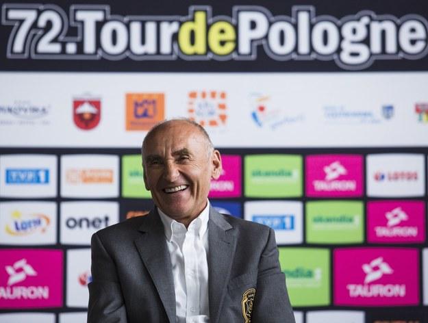 Dyrektor generalny Tour de Pologne Czesław Lang /Andrzej Hulimka  /Reporter