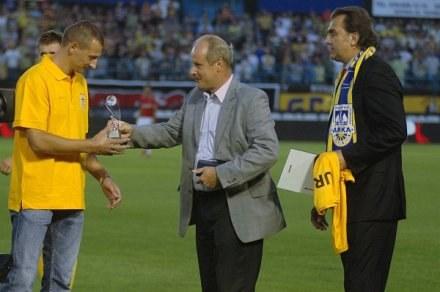 Dyrektor sportowy Arki, Andrzej Czyżniewski (z prawej). Fot. Joanna Żmijewska. /INTERIA.PL
