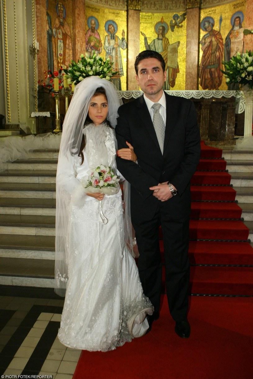 Dżemma i Despero na ślubnym kobiercu /Piotr Fotek /Reporter