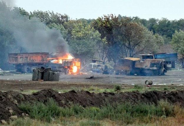 Działania wojenne na Ukrainie trwają od kwietnia 2014 roku /AFP