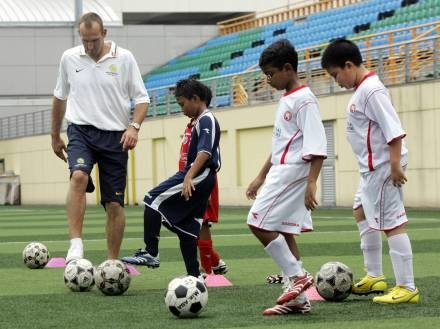 Dzieci wezmą udział w turnieju piłki nożnej /AFP