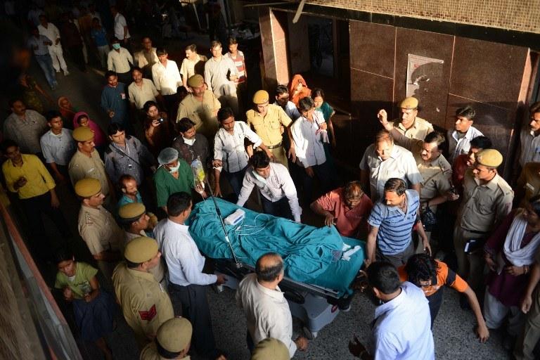 Dziecko trafiło do szpitala /AFP