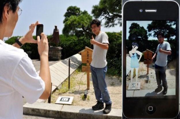 Dzięki tej technologii w telefonie widzimy dodatkowe elementy i inne światy /AFP