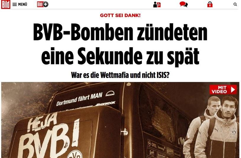 """Dziennikarze """"Bildu"""" dotarli do wyników śledztwa w sprawie zamachu na BVB. /"""