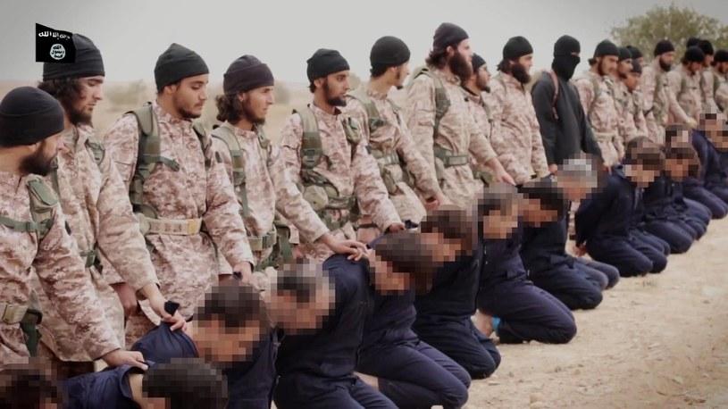 Dżihadyści z Państwa Islamskiego. Wśród nich są byli francuscy żołnierze /AFP