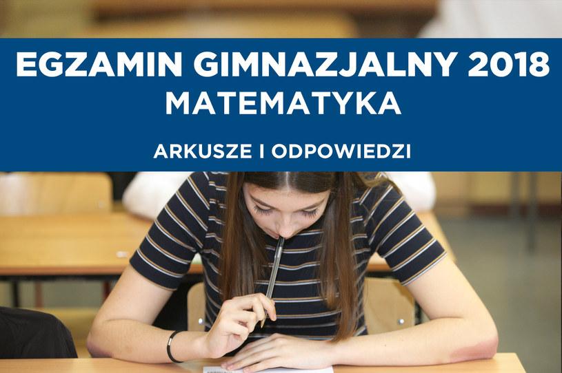 Dziś egzamin gimnazjalny z matematyki / Lech Muszyński    /PAP