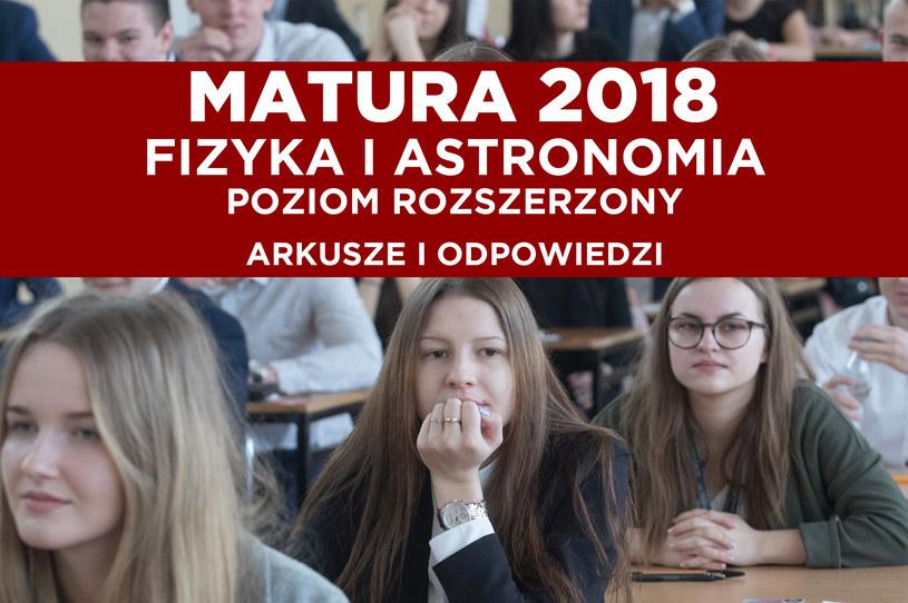 Dziś na maturze fizyka i astronomia; zdj. ilustracyjne /Marian Zubrzycki /Agencja FORUM