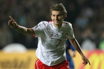Ebi Smolarek cieszy się, że gra dla Polski. FOT. Maciej Śmiarowski. /Agencja Przegląd Sportowy