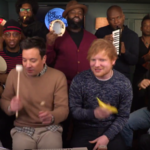 "Ed Sheeran i Jimmy Fallon: ""Shape Of You"" na zabawkowych instrumentach"
