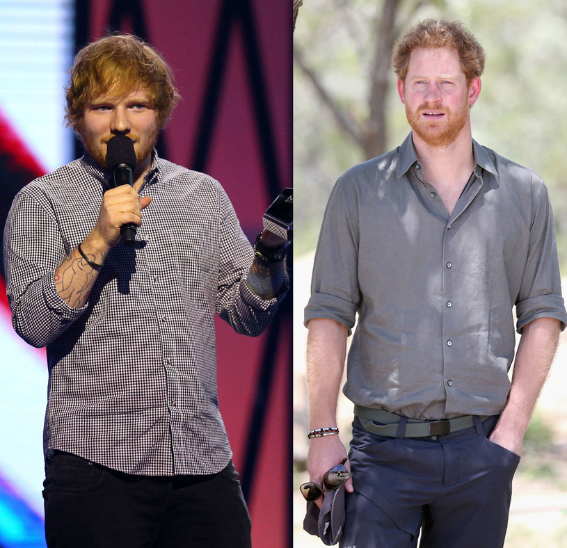 Ed Sheeran i książe Harry /Graham Denholm/Chris Jackson /Getty Images
