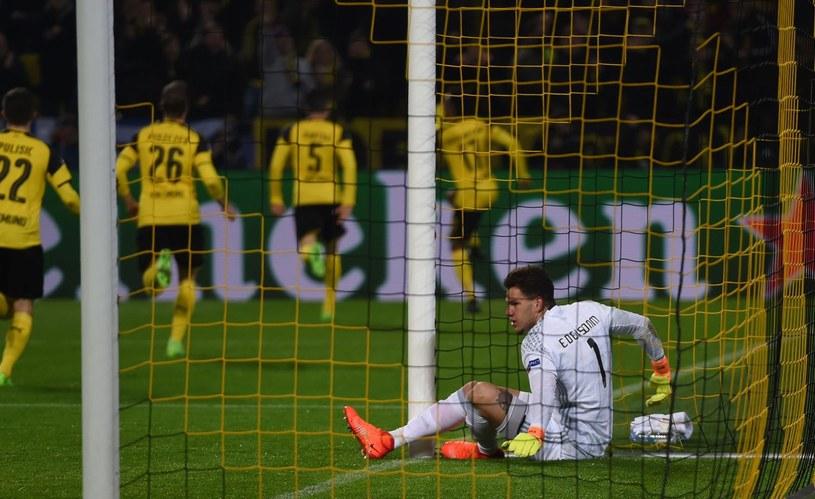 Ederson kapituluje w meczu Benfiki z Borussią Dortmund /AFP
