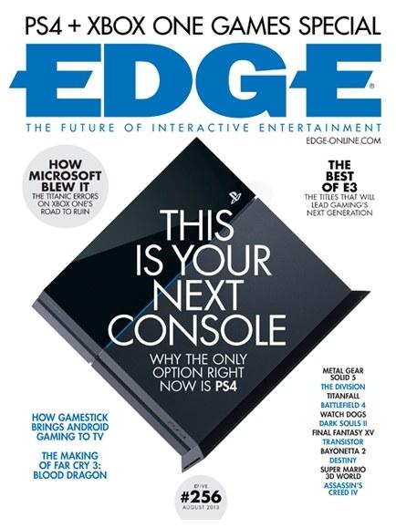 Edge - okładka sierpniowego wydania brytyjskiego magazynu /materiały prasowe