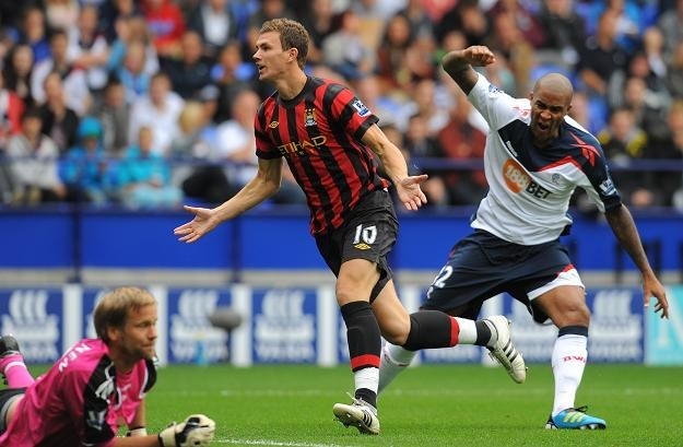 Edin Dżeko z Manchesteru City /AFP