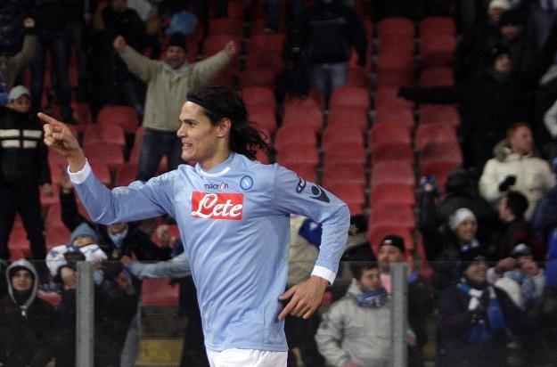 """Edinson Cavani - """"bohater ostatniej akcji"""" drużyny Napoli /AFP"""
