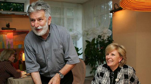 Edward Kłosiński z Krystyną Jandą