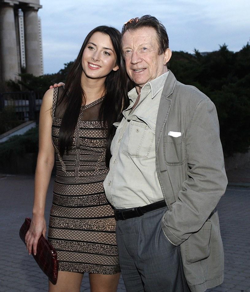 Edward Linde-Lubaszenko w córką /Adam Guz /Reporter