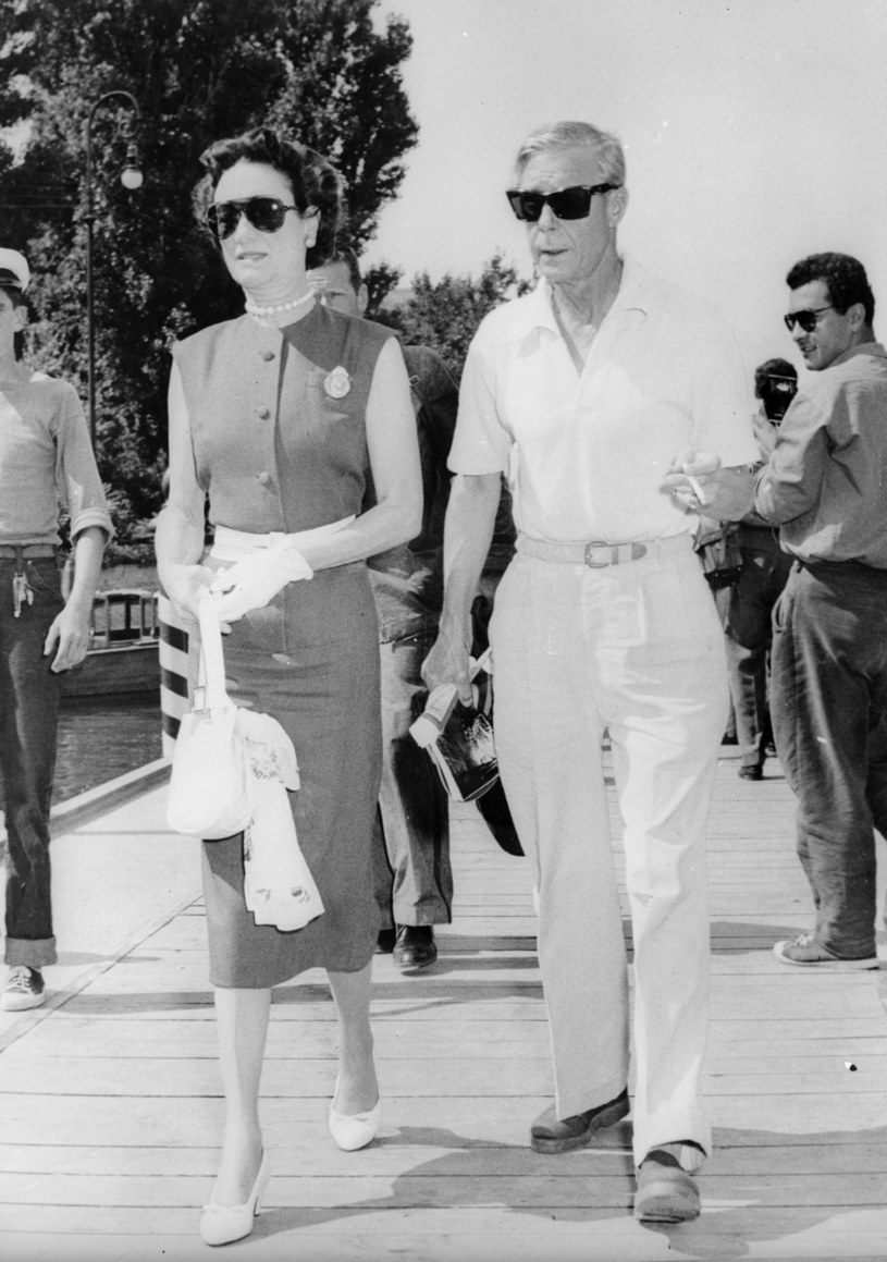 Edward Windsor i Wallis Simpson w roku 1956 /Getty Images