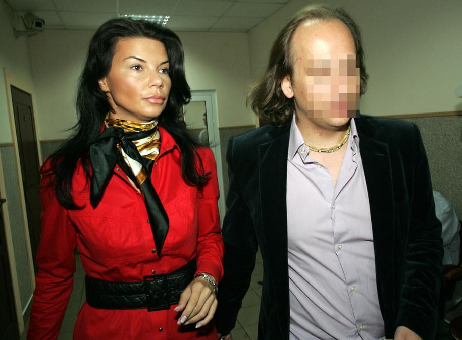 Edyta Górniak ze swoim ówczenym mężem Dariuszem K., czerwiec 2007 /Grzegorz Michałowski /PAP
