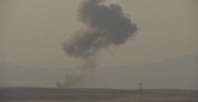 Efekt amerykańskich bombardowań /PAP/EPA/HO /PAP/EPA