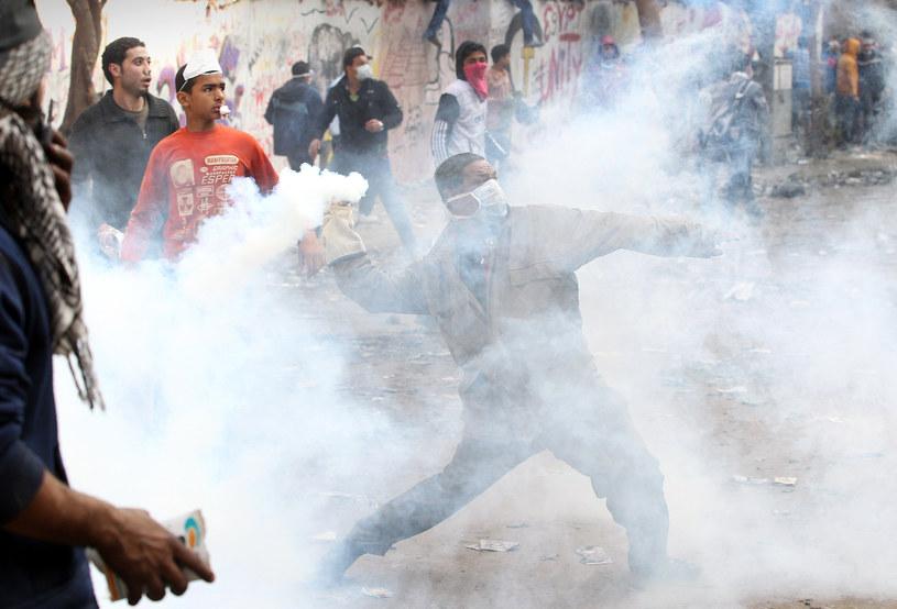 Egipt, okolice placu Tahrir podczas starć z siłami reżimu /Getty Images