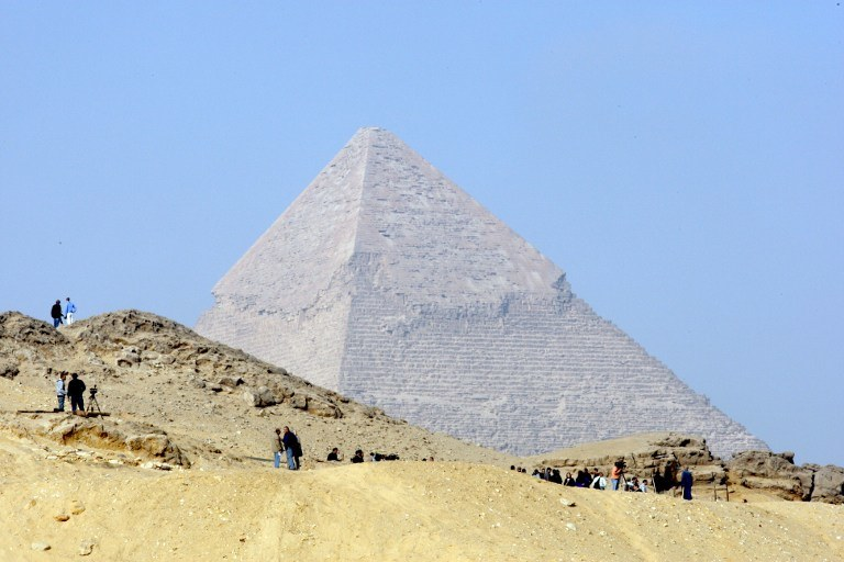 Egipt, piramida w Gizie /AFP