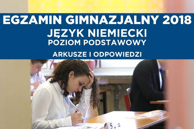Egzamin gimnazjalny 2018. Język niemiecki; zdj. ilustracyjne /PAP