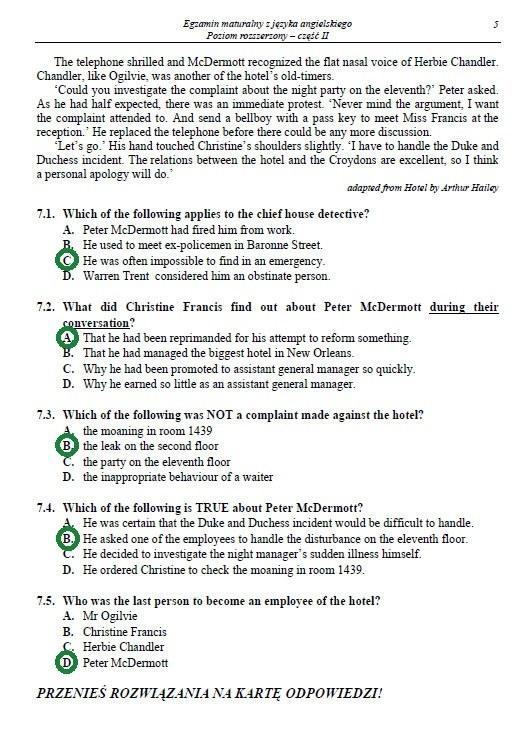 Egzamin maturalny z języka angielskiego - poziom rozszerzony /INTERIA.PL