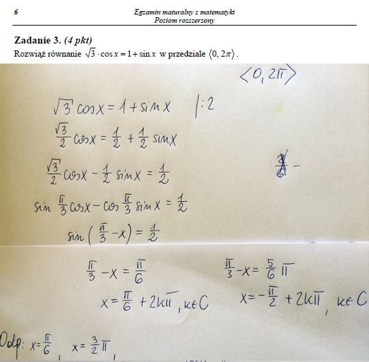 Egzamin maturalny z matematyki - poziom rozszerzony. Arkusz i odpowiedzi /INTERIA.PL
